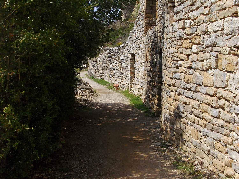 Chemin d'accès au gîte