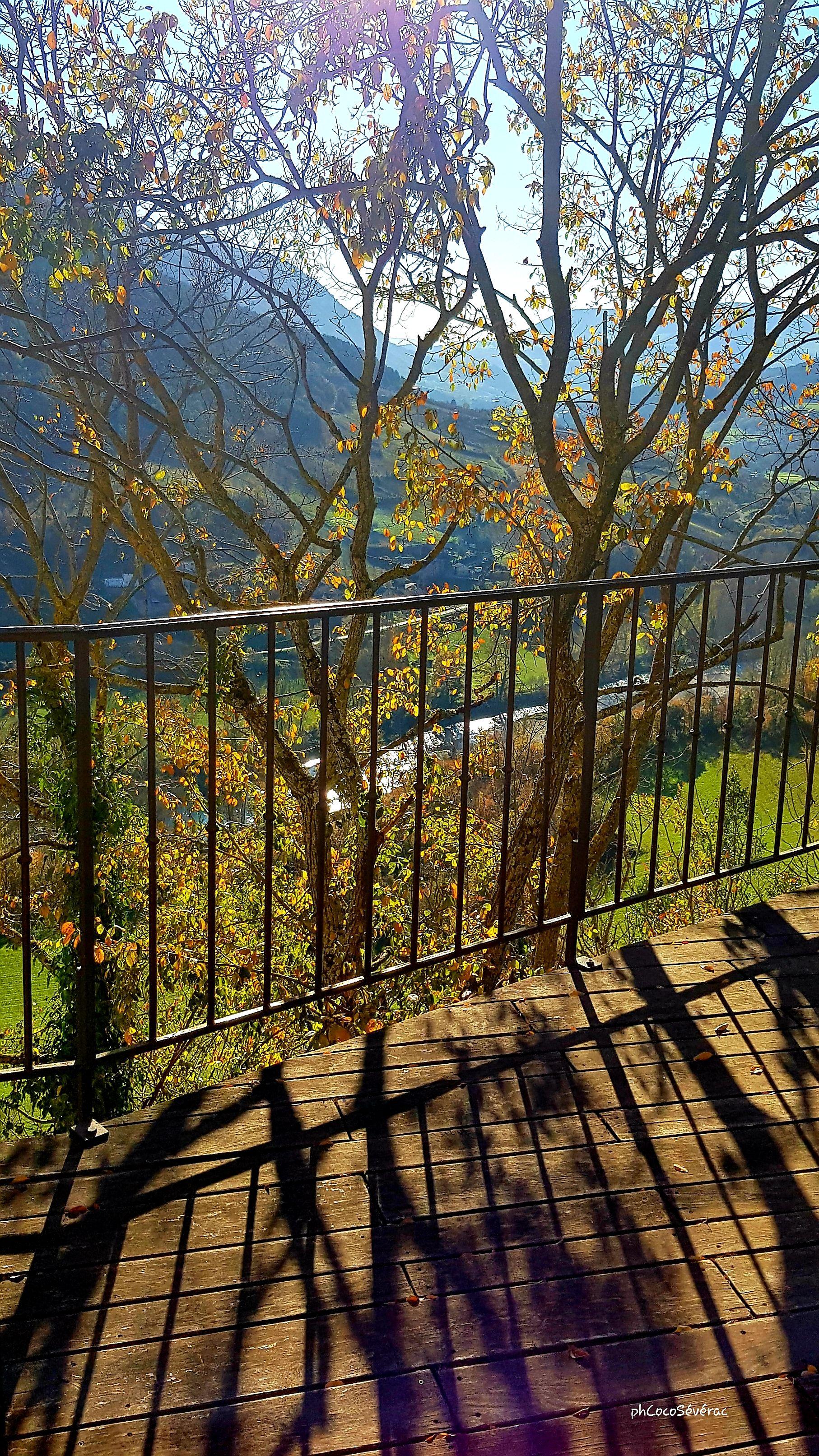 Vue sur la vallée du Tarn depuis la terrasse