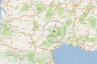 Situation géographique de Peyrelade